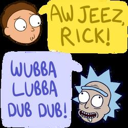 Rick and Morty by Luminovia