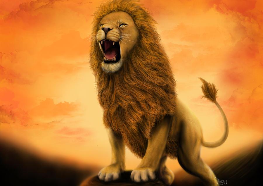 Lion Aslan By Lsandyw