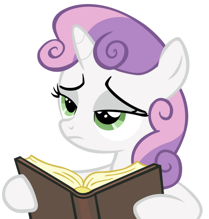 You Interrupted Sweetie Belle's Book For This by craftybrony