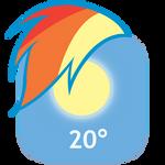 MLP:FiM Rainbow Dash Mane iPhone Weather Icon