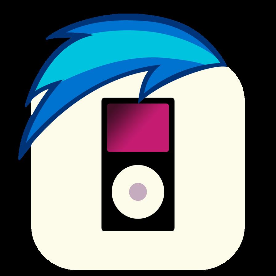MLP:FiM Vinyl Scratch Mane iPhone Music Icon by craftybrony