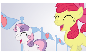 Applebloom and Sweetie Belle by craftybrony