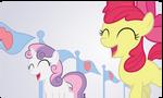 Applebloom and Sweetie Belle by craftybrony