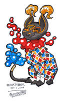Inktober 03 - Paper Cat