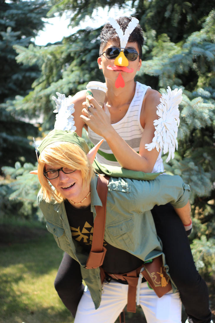 Hipster Link and Cuccoo by Tyandaga