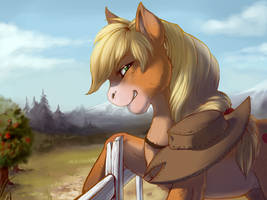 Applejack by Rait-StormDragoness