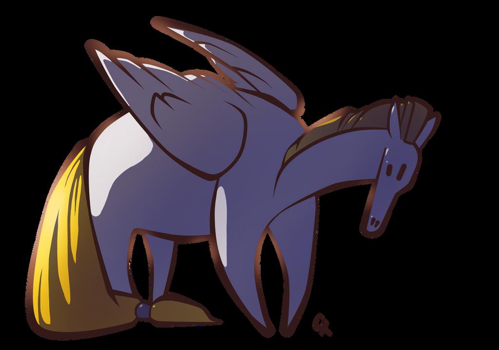 Fat pony by Rait-StormDragoness