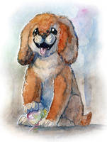 Fluffy Dog by Rait-StormDragoness