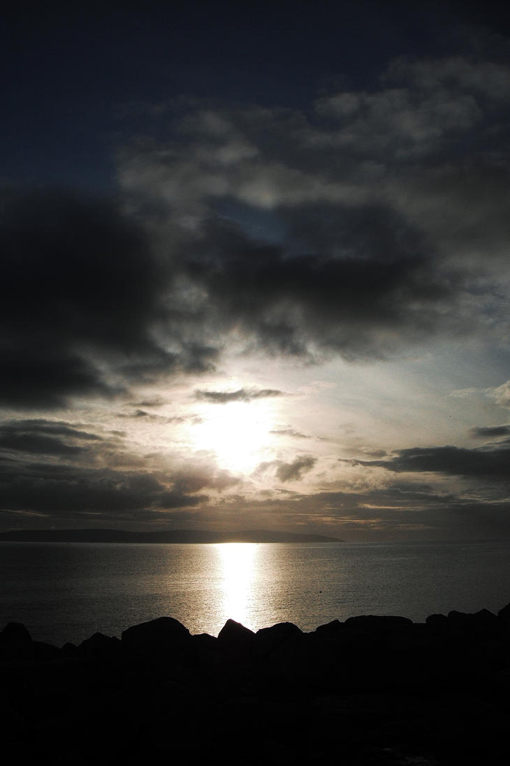 irelands sunset salthill by abirato