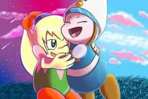 Prince and Princess of Kirby by Birdon14
