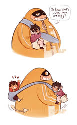 [BNHA] dad series #2 - Fatgum, Kiri and Tamaki by t-eas