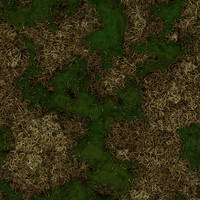 Handpainted Style Pine Forest floor