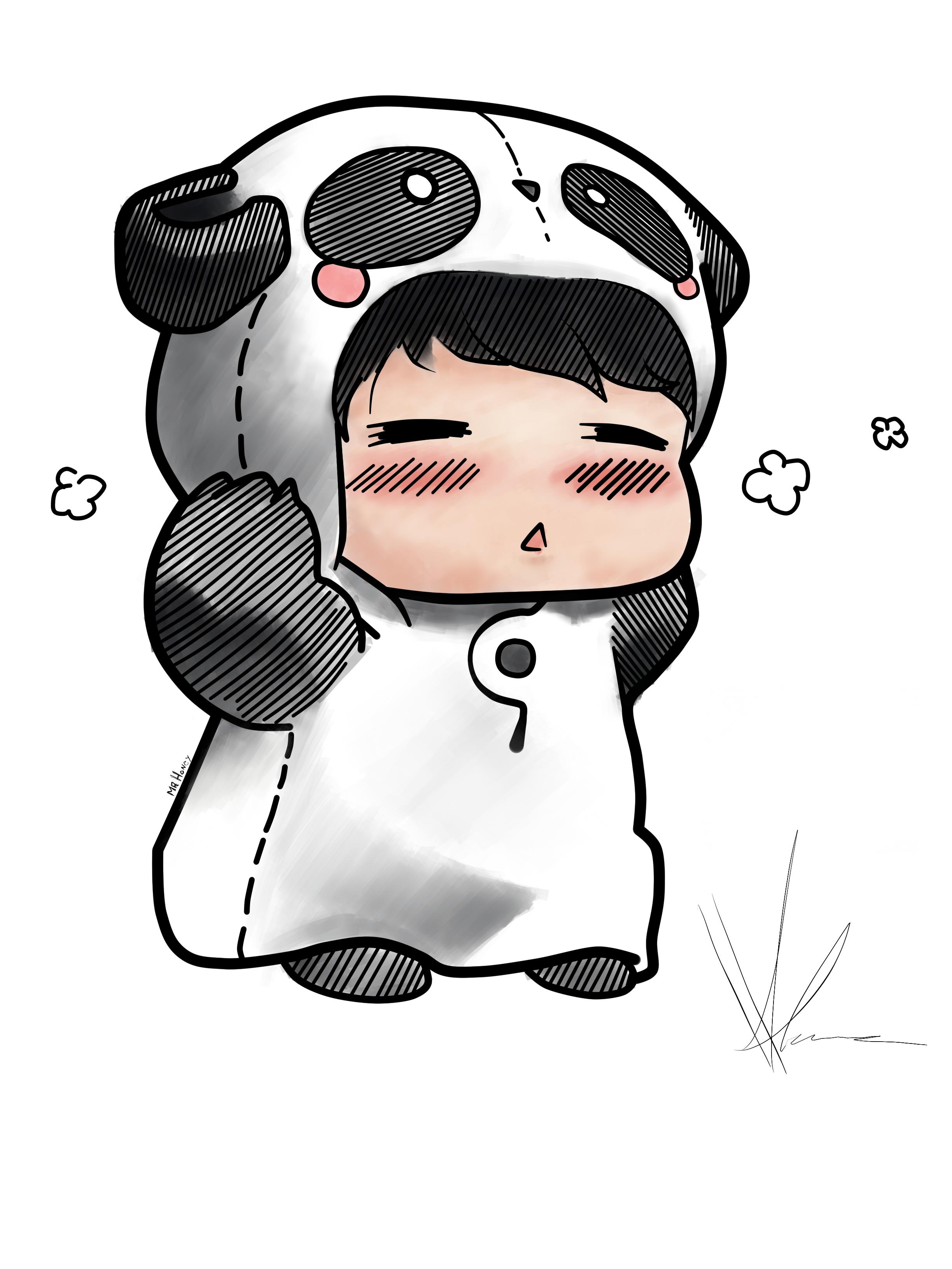 Panda Chibi Honey by S...