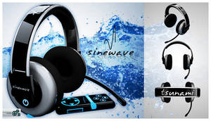 Sinewave tsunami headphones by KudakwasheZimunya