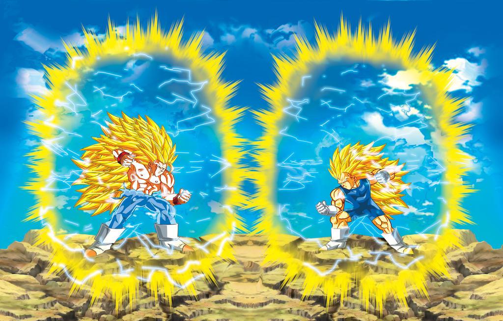Goku Vs Vegeta4 Super Saiyan 3 By JonathanHendricks