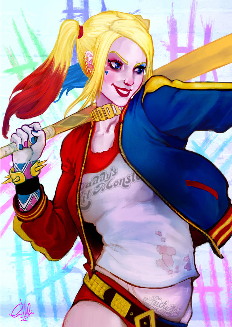 Harley Q sizzle by gintrax13