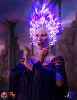 Purple Flame by Greta-Heron