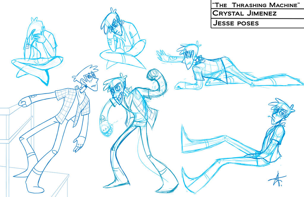 Character Design Poses : Character poses jesse by cryej on deviantart