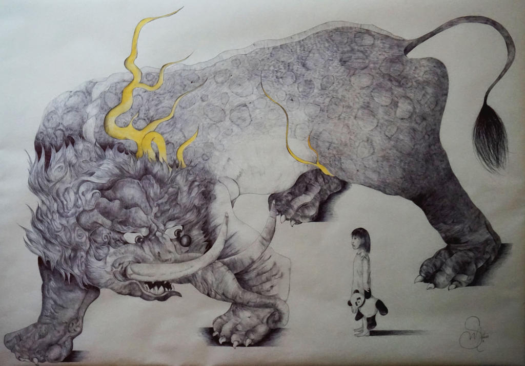 Baku Myth [Ballpoint pen] by PhiaMatus