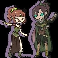 PC Ruthel and Calemiron by Koru-ru