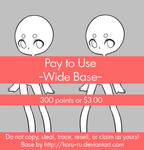 Pay To Use Base {Wide} 300 points or $3.00