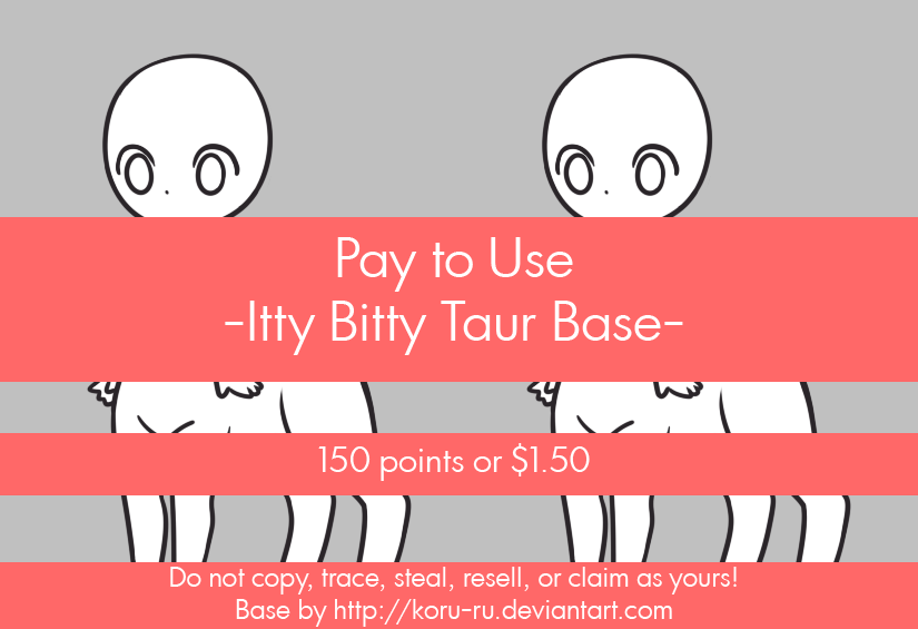 Pay to Use Base {IttyBitty Taur} 150 points/$1.50 by Koru-ru