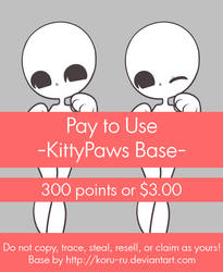 Pay To Use Base {KittyPaws} 300 points or $3.00 by Koru-ru