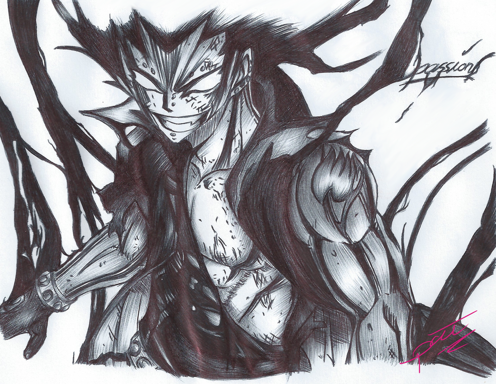 Gajeel (Ballpoint Pen) by passion00