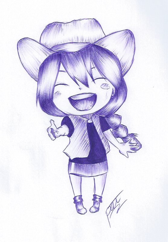 Contest Prize - Asuka (BallPointPen) by passion00