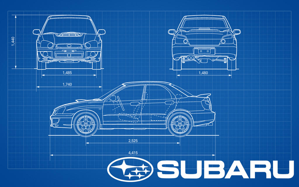 Subaru wrx blueprint by sreden on deviantart subaru wrx blueprint by sreden malvernweather Gallery