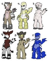 Furry adopt batch $20 OPEN by ManicJimmy