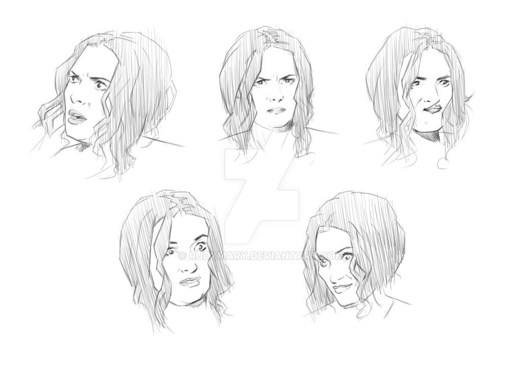 5 Faces of Winona #3 by RudyMary