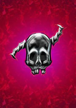 Humanoid Silver Skull