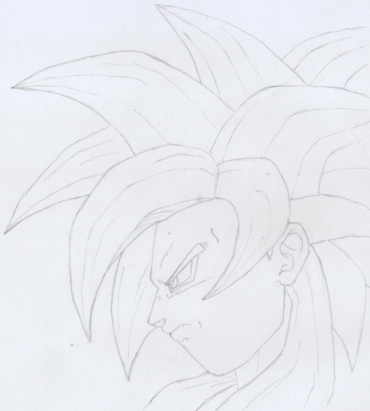 SSJ4 Goku pencil sketch