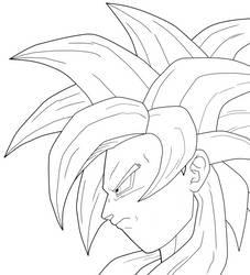 Goku SSJ4 Line art