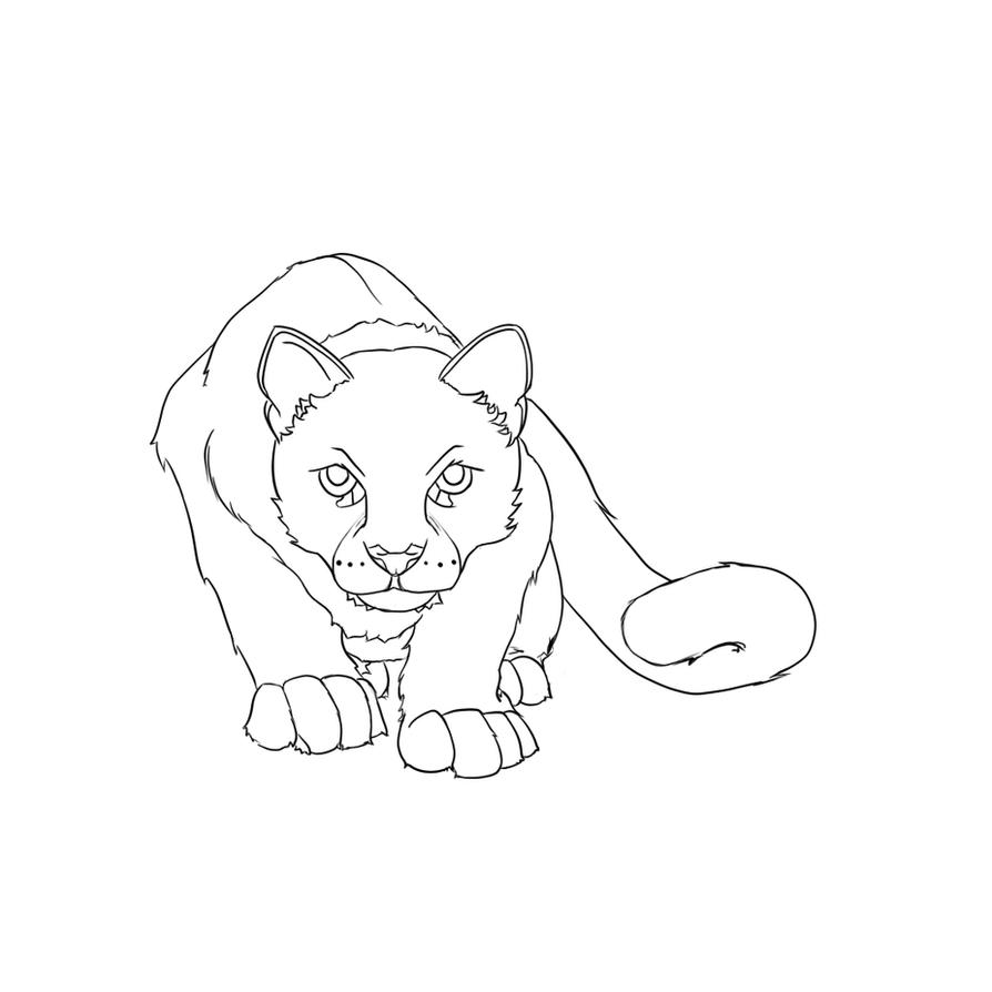 f2u Big Cat Line-art by ItakoFury