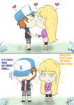First kiss Dipper and Pacifica