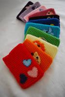 Crochet smart phone cases by hiro-chan28