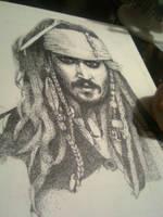 Jack Sparrow - Stippling by Jouvru