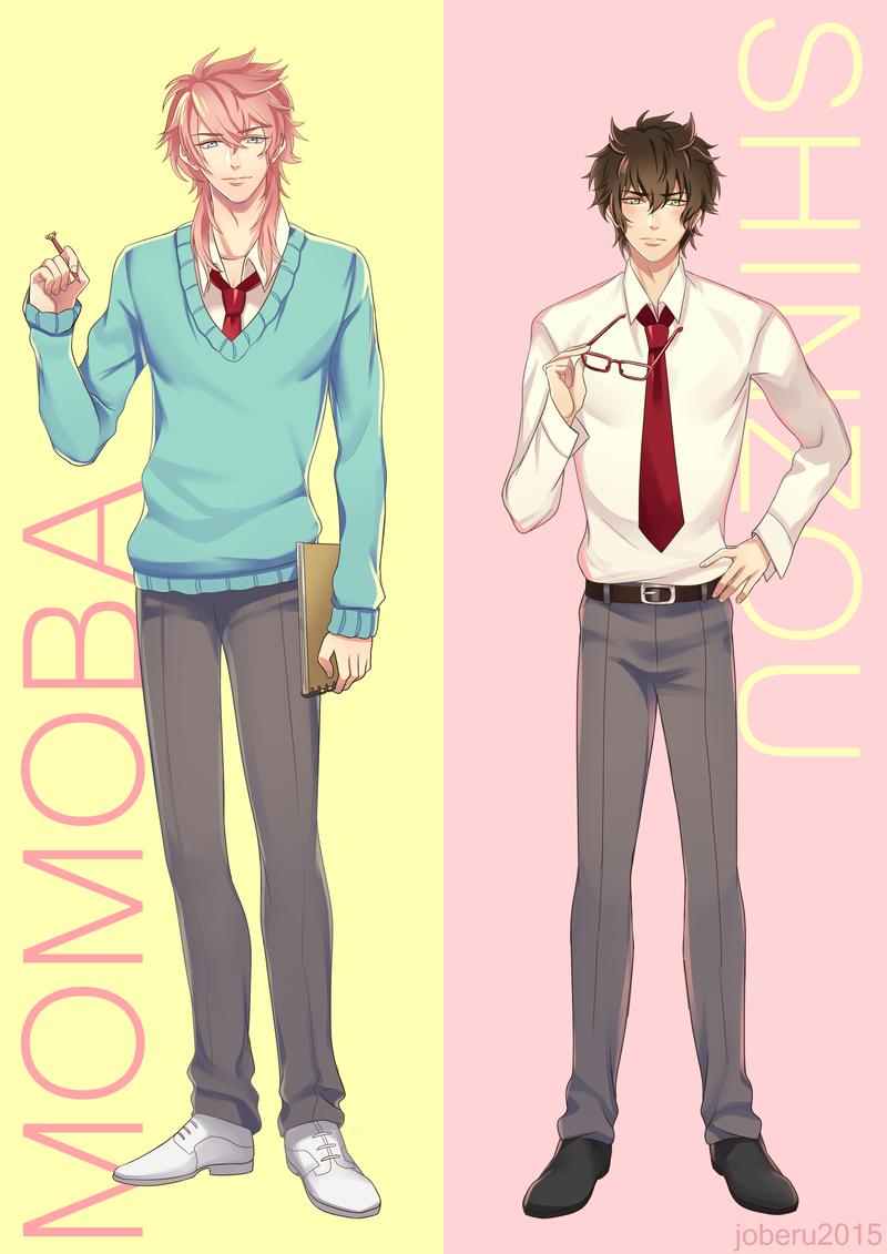 Momoba and Shinzou by Joberu