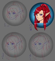 Hair Practice for Rose