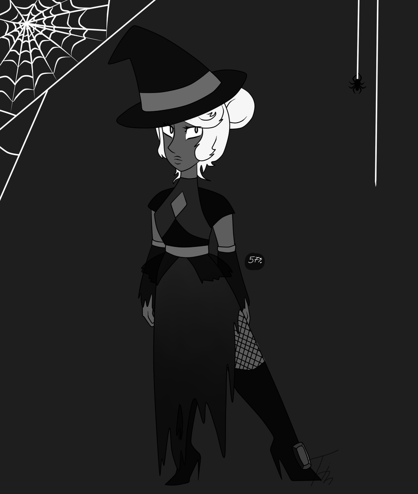 Halloween Themed Gem Adopt Black Tourmaline CLOSED by Timmie33