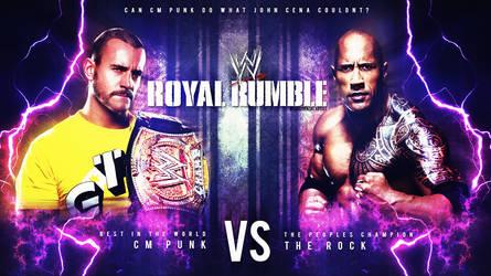 Wwe RR13 Cm Punk vs The Rock Wallpaper