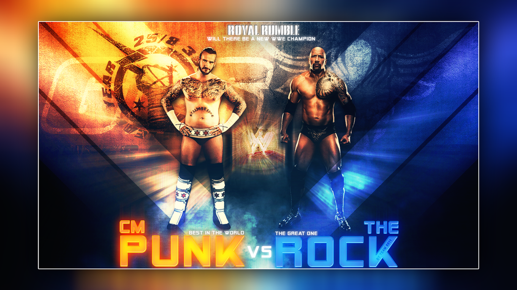Wwe Cm punk vs The Rock Royal Rumble 2013 by T1beeties
