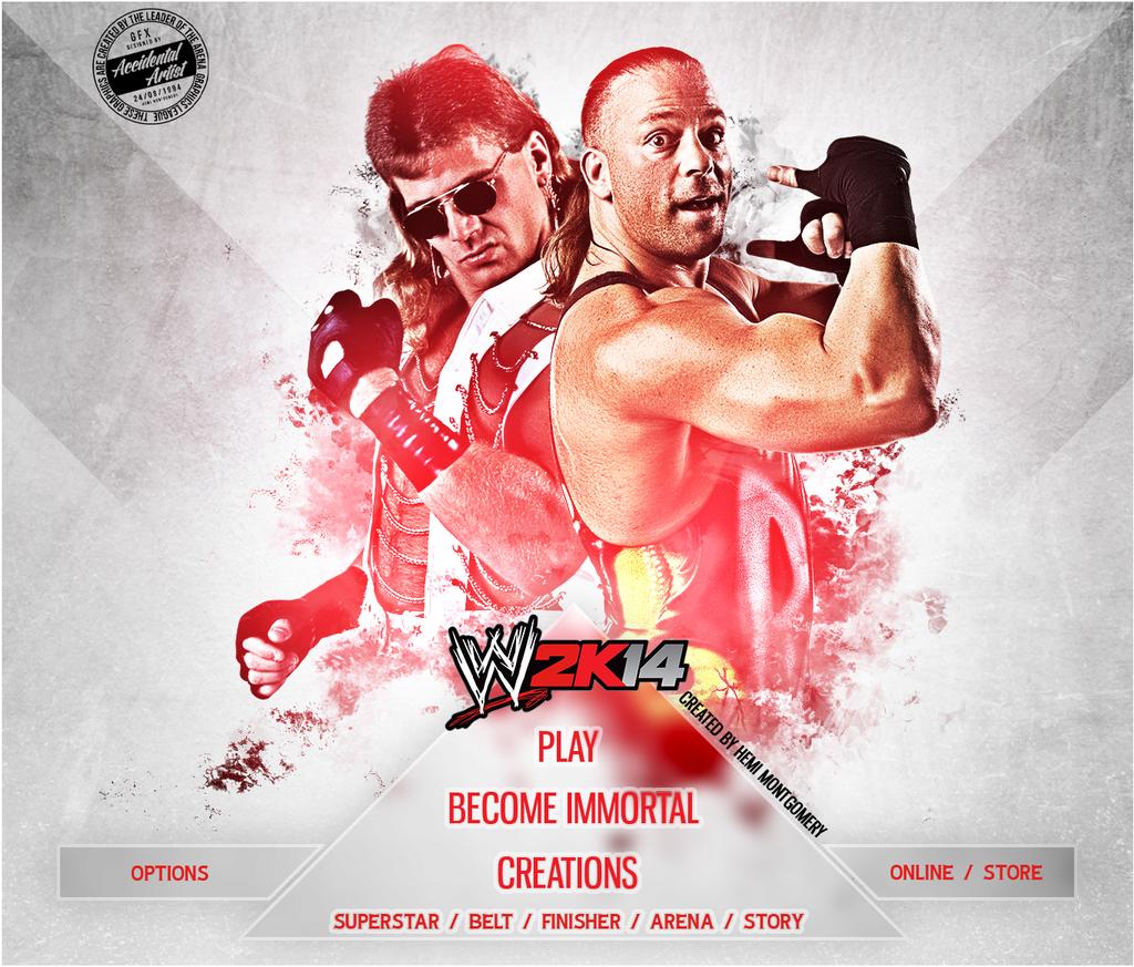 WWE 2K14 CUSTOM START MENU#1 by T1beeties