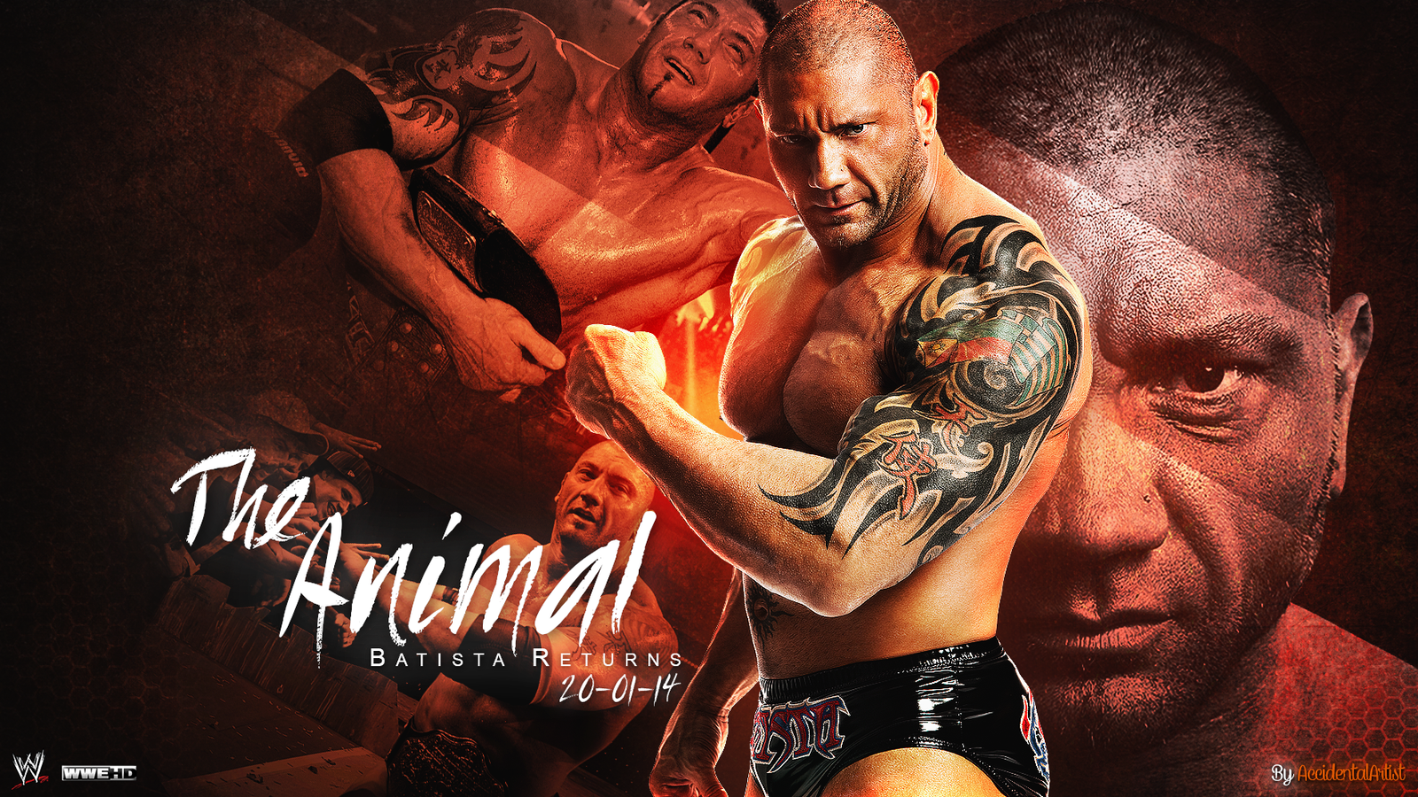 the animal batista returns 20 01 14 by accidentalartist6511 d6zjq0q - Polling For Sports Competition May 2014