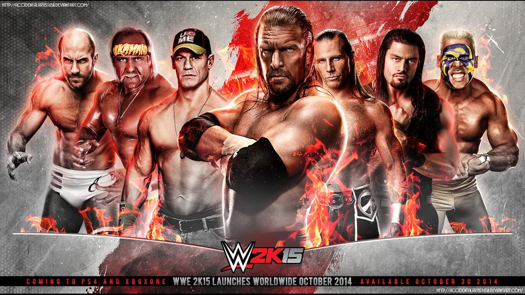 [WWE2K15] Liste des stipulations DISPONIBLE Wwe_2k15_wallpaper_by_accidentalartist6511-d7utvu4