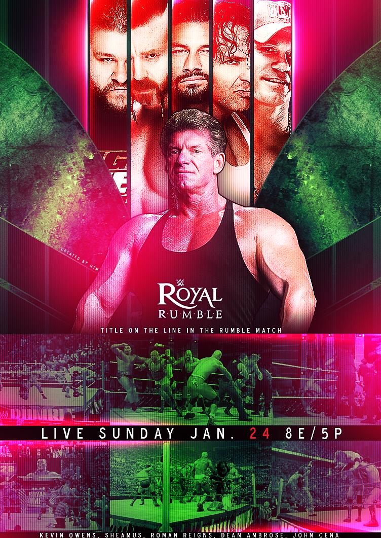 Royal Rumble 2016 Poster Ft. VM by Llliiipppsssyyy