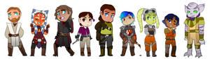 Star wars animated lineup