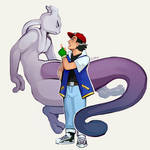 mewtwo and ash